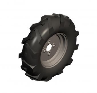 Set of 2 agricultural wheels