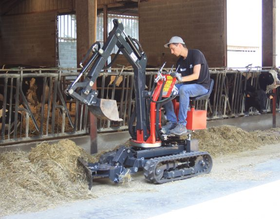 Mini-digger Accessory  - the Snow blade skid steer