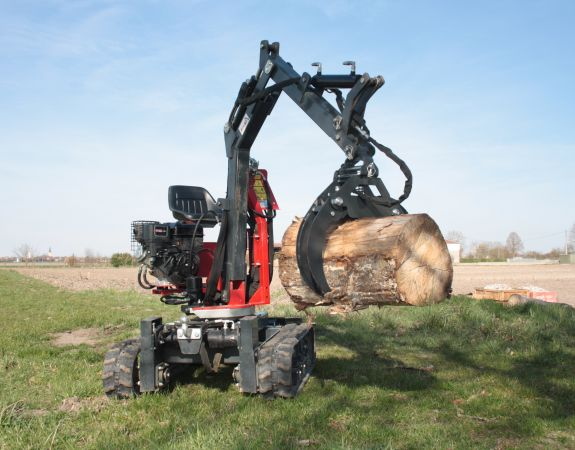 mini-digger accessory - The wood grapple