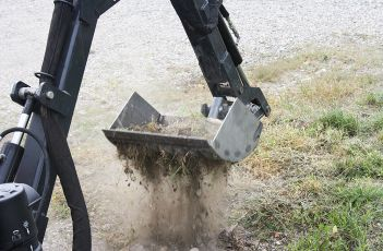Mini-digger accessory - The brush cutter