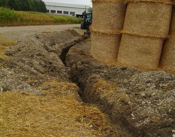 Work: making a 40-metre trench